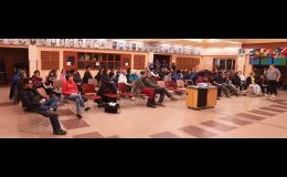 PUBLIC MEETING—The school district presented their proposal to move sixth graders from the elementary school to Nome-Beltz Jr./Sr. High School.