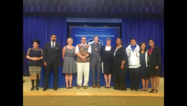 CHAMPIONS FOR CHANGE— Esau Sinnok of Shishmaref (third from right) was honored with other champions of change at the White House on Friday, July 15.