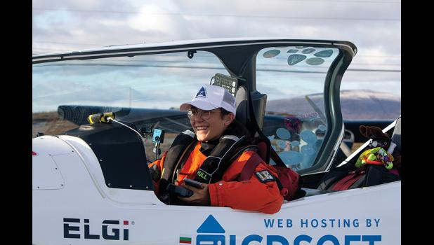 YOUNG AVIATOR— Zara Rutherford, 19,  of Belgium landed in Nome on Thursday, Oct. 30 in her ultralight aircraft, trying to set a world record as the youngest person to fly around the world solo.