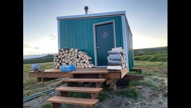 Volunteers completely renovated the Topkok shelter cabin.