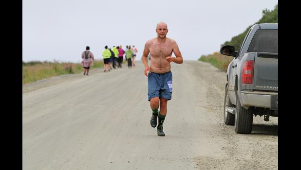 MARATHON WINNER— Cole Talbot won the fifth Cape Nome marathon.