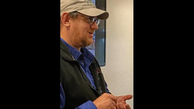 RESEARCH BIOLOGIST—Lyle Brit Ph.D is lead scientist in a Bering Sea bottom trawl survey program. He will appear at a Strait Science presentation of the summer's findings in November.