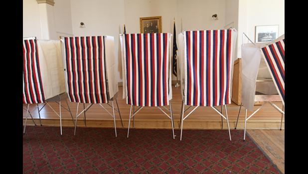 Voting booths at Old St. Joe's in Nome