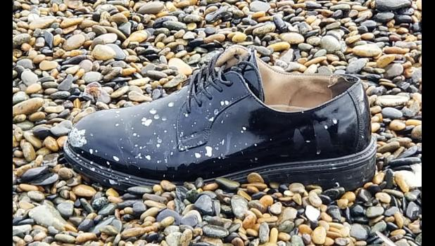DRESS SHOE— On Sept. 19 this Russian dress shoe was found near the Emeghaq camp, halfway between Gambell and Savoonga, on St. Lawrence Island.
