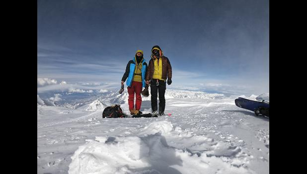 SUMMIT – Wilson, left, and Oliver Hoogendorn were the first climbers to reach the summit of Denali in the 2019 climbing season.