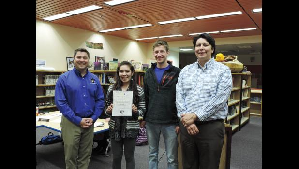 SPIRIT OF YOUTH— Sierra Tucker received the Spirit of Youth Award.