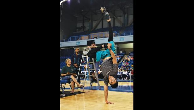 WEIO—Makiyan Ivanoff of Unalakleet won silver at last week's WEIO competition in Fairbanks, in the Alaskan High Kick, reaching the seal ball at a height of  86 inches.