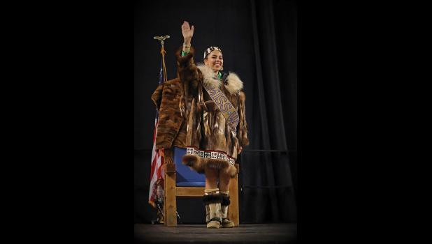 MISS WEIO— Nome's Kaylene Iñuuraq Evans has been crowned Miss WEIO 2018 in Fairbanks last weekend.