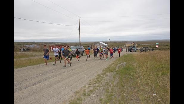 ANVIL MOUNTAIN CHALLENGE— Twenty-two runners took the Anvil Mountain 59-minute Challenge on Thursday, August 18.