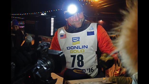 HOME— Nome's Tom Jamgochian finished his first Iditarod at 2:45 a.m. on Friday, March 18. Jamgochian completed the race in 11 days, 11 hours and 45 minutes to finish in 57th place.