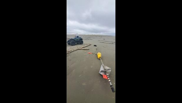 TAG— A Russian buoy marker and fishing tag were found near Wales on  September 21. Aside from the marker, there were also plastic milk drink bottles, water bottles, air freshener cans and toilet bowl cleaner bottles found.