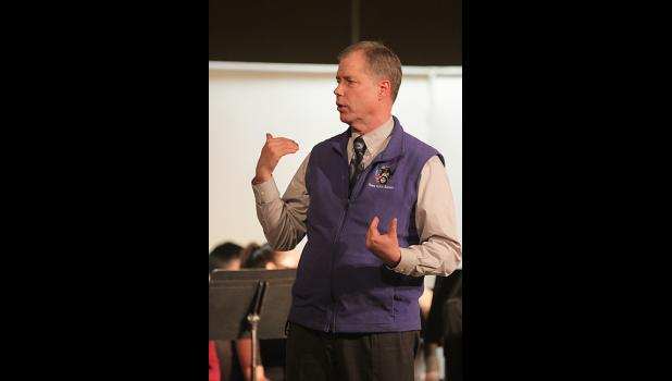 Bill Schildbach at a school winter concert event in Dec. 2018.