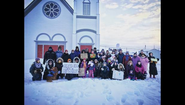 WOMEN'S MARCH—Men, women and children participated in last Saturday's Women's March in Nome