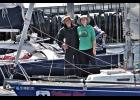 VILLAGE GIRL— Alex Whitworth and Megan Hahn prior to their departure from Port Townsend, Sunday, June 2.